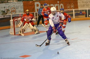 Adrien Desoppis - Equipe de France - Photo WorldInlinehockey