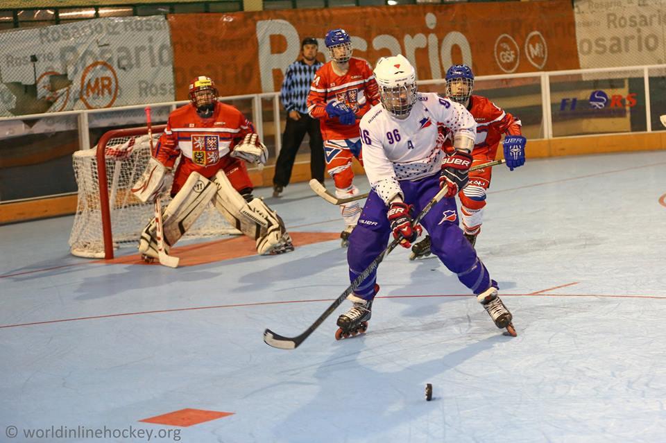 Adrien Desoppis - Equipe de France - Photo WorldInlinehockey