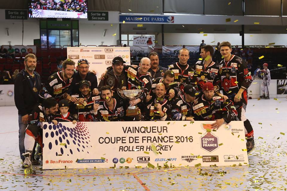 Rethel vainqueur Coupe de France 2016 - photo FF Roller Sports